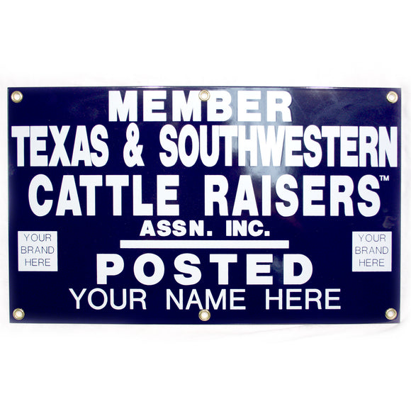 TSCRA Personalized Gate Sign 20x12