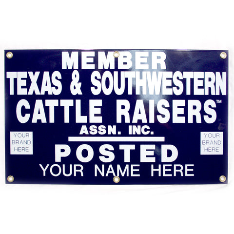 20x12 Personalized Gate Sign