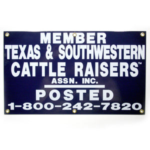TSCRA 20x12 Metal Gate Sign