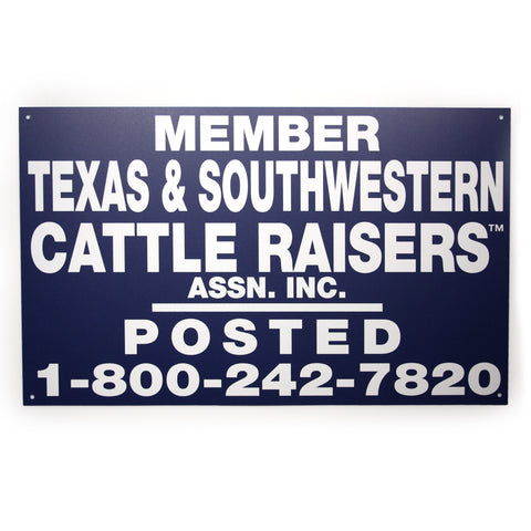 TSCRA 48x24 Plastic Gate Sign