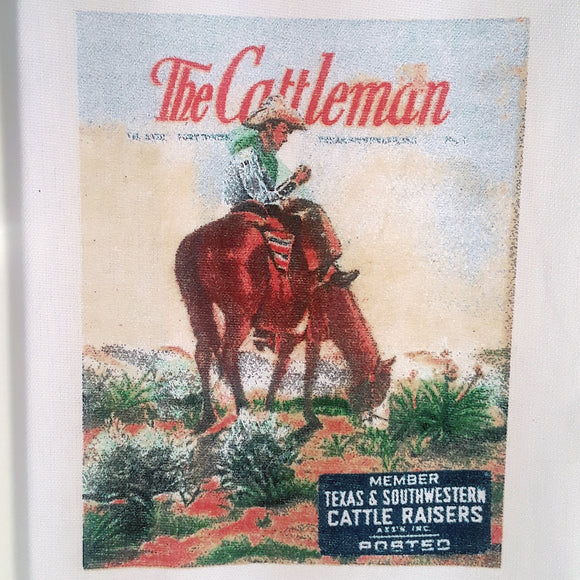 Vintage Cattleman Tea Towel