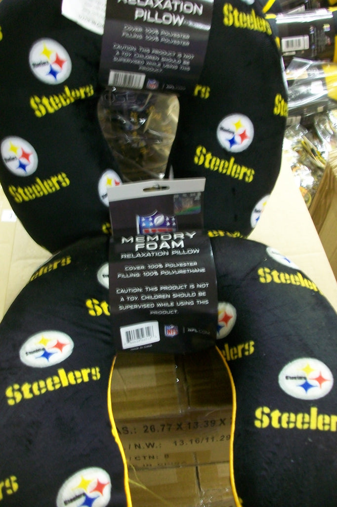 Steelers Memory Foam Neck Pillow