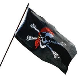 Pirates Jolly Roger Flag 3 by 5