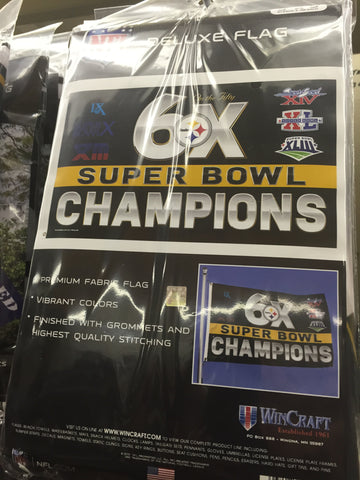 Steelers 6X Champion Flag