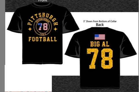 "Steelers Patriotic T-Shirt ""Big Al"" #78"