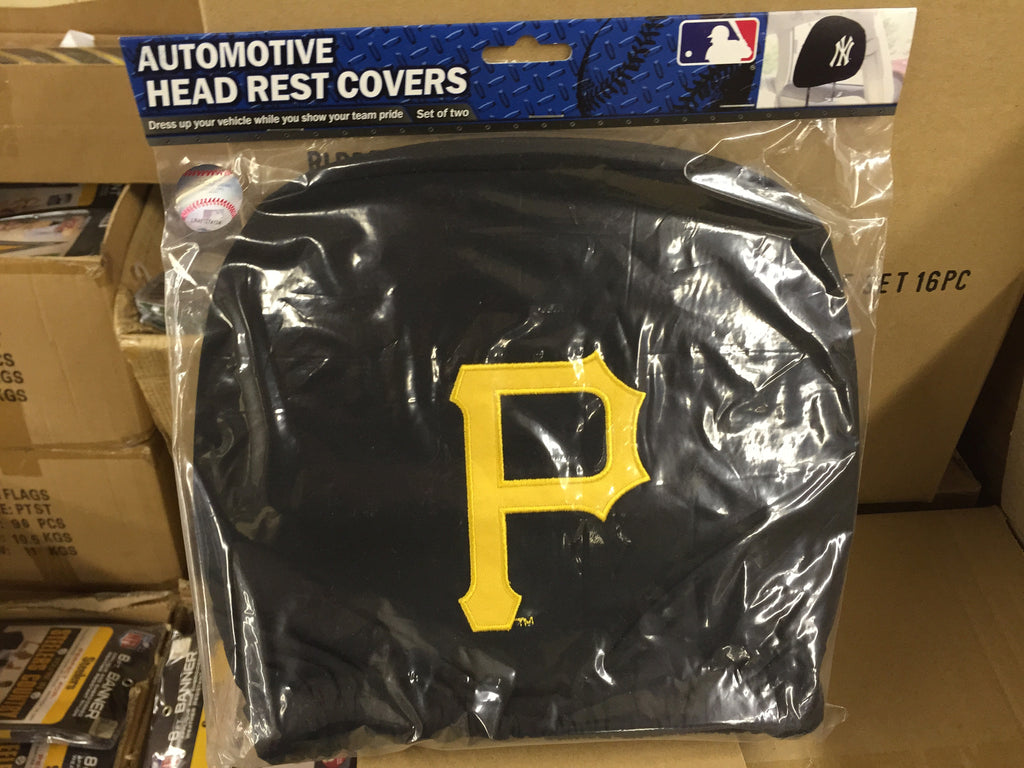 Pirates Head Rest Covers