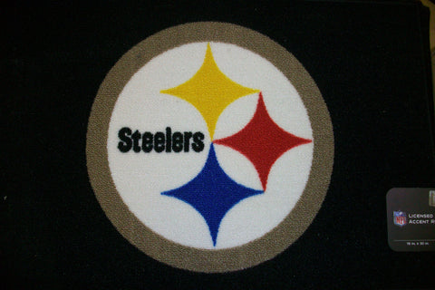 Steelers Black Logo Rug