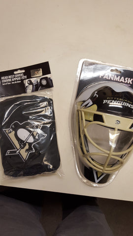 Penguins Head Rest Cover and Mask