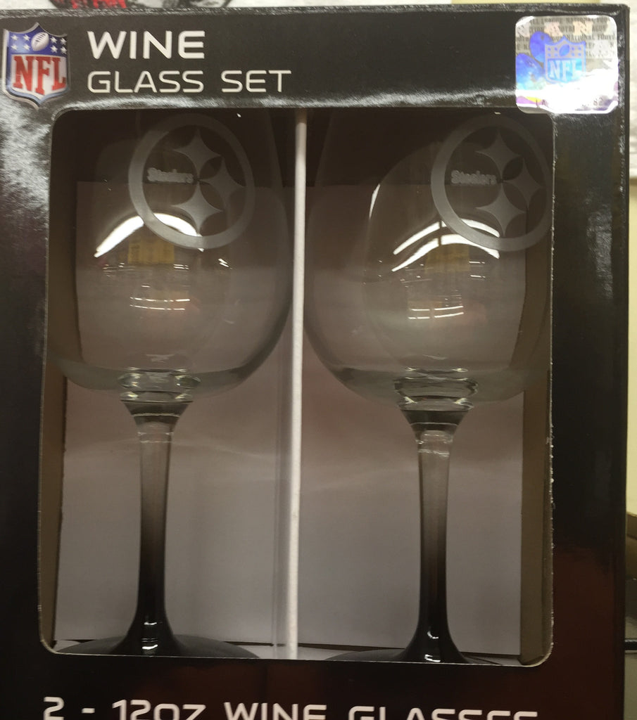 Steelers Wine Glass Set