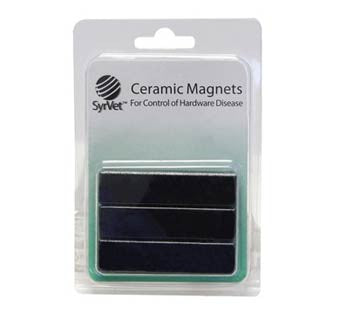 NYLON COATED CERAMIC COW MAGNET 3 PACK