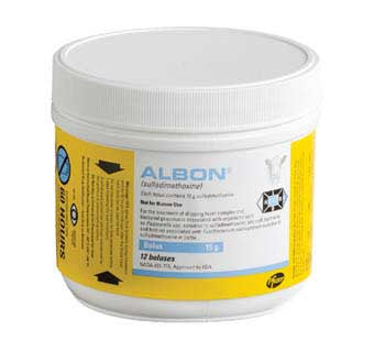 ALBON® BOLUSES (SULFADIMETHOXINE) 15GM 12CT