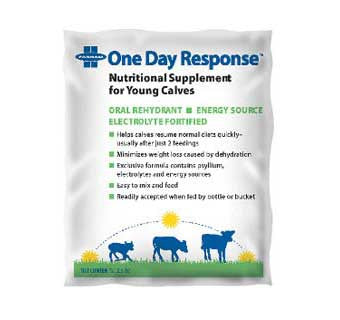 ONE DAY RESPONSE NUTRITIONAL SUPPLEMENT FOR YOUNG CALVES