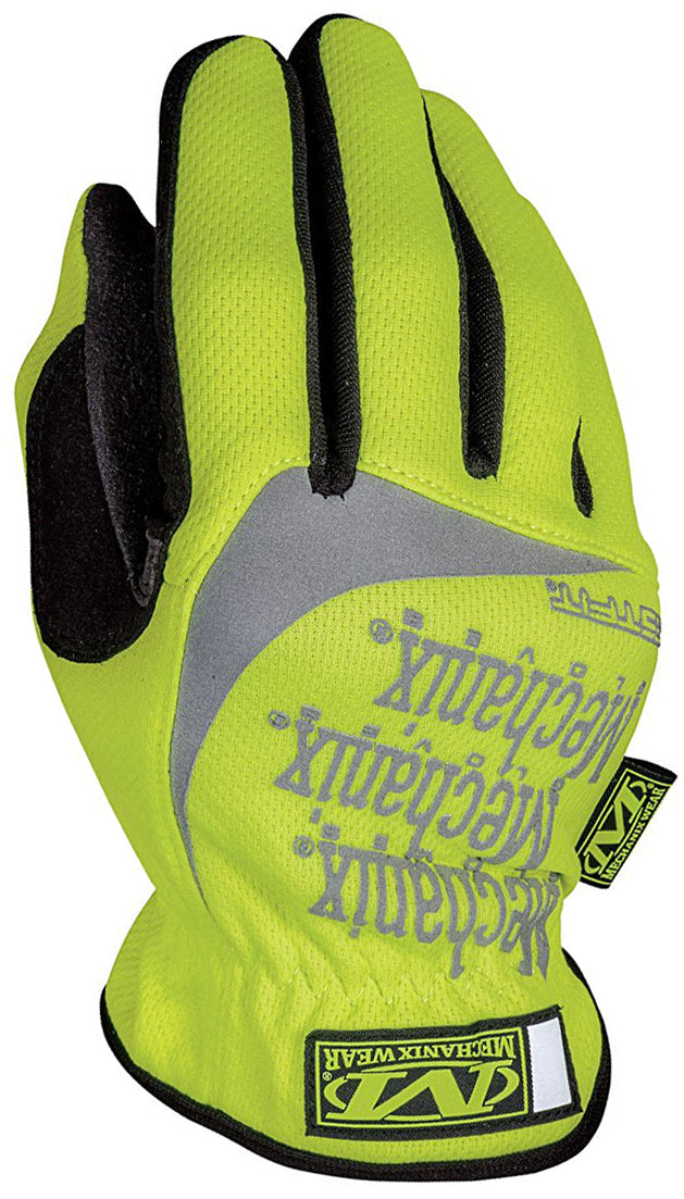 Hi-Viz FastFit Work Gloves Medium Fluorescent Yellow Mechanix Wear