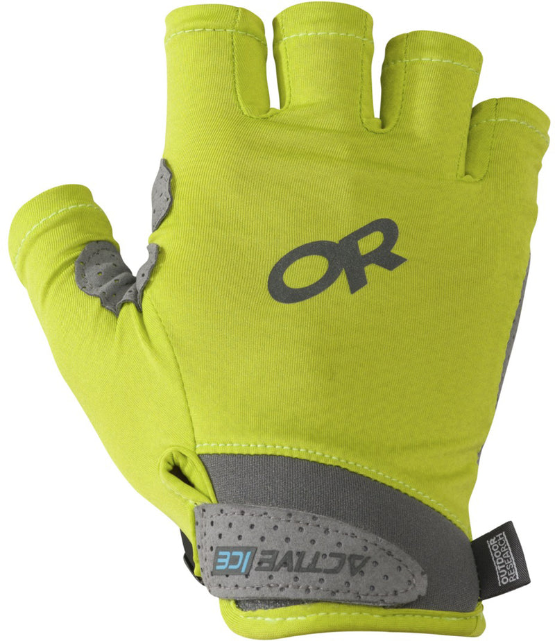 Outdoor Research - ActiveIce Chroma Sun Half Finger- Lemongrass - Apparelly Gloves