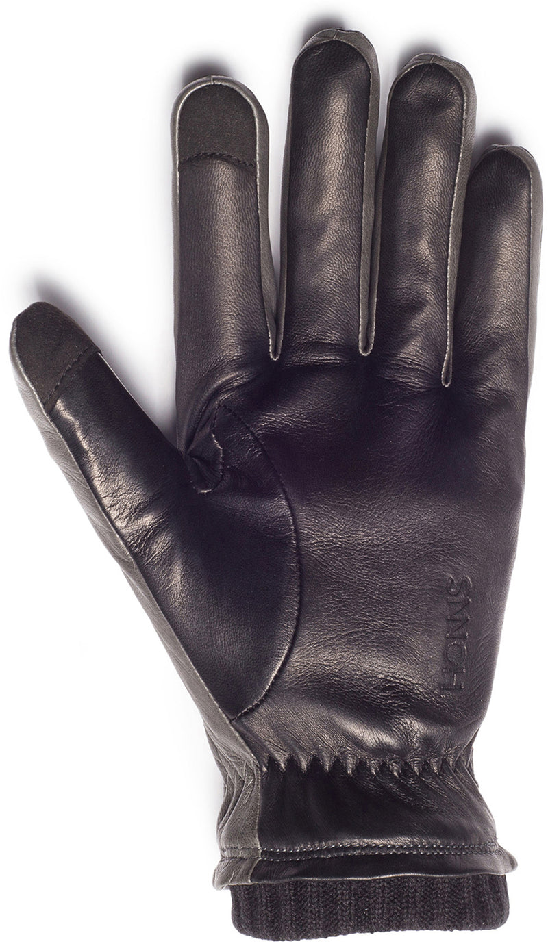 Honns Oliver Grey/Noir Gloves