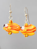 Gold Fishy Earrings