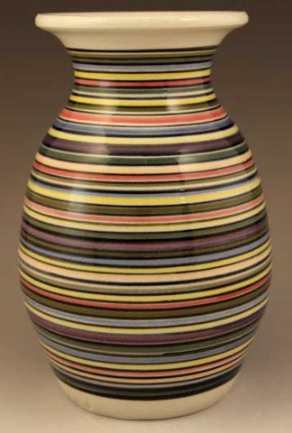 Medium Vase with Striped Pattern