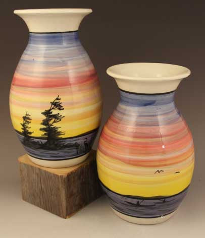 Medium Vase in Sunset Pattern