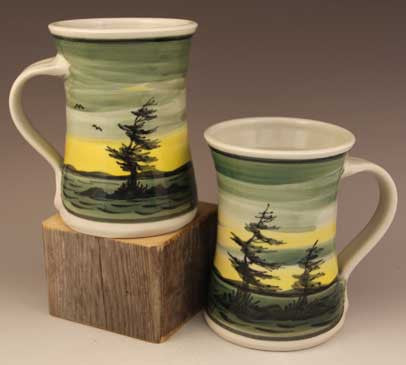 Medium Mugs in Dawn Pattern