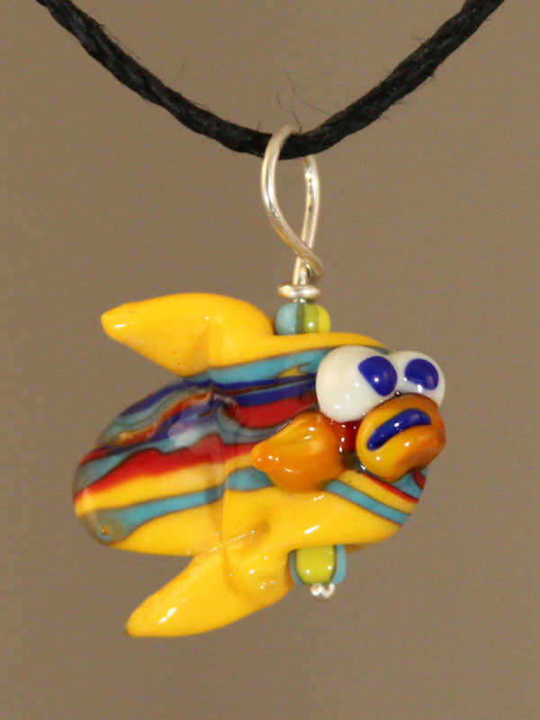 Gold Fishy Bead Pendant