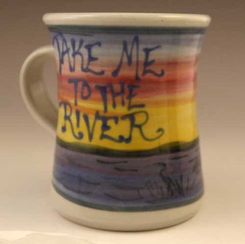 Sunset Pattern, Take Me To The River, Mug