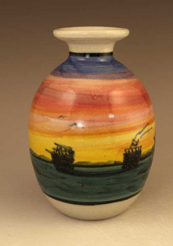 Small Vase in Sunset Pattern