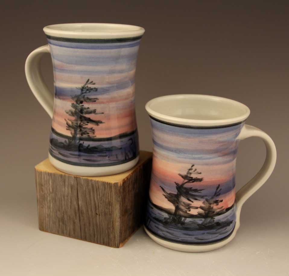 Medium Mugs in Purple sunset Pattern