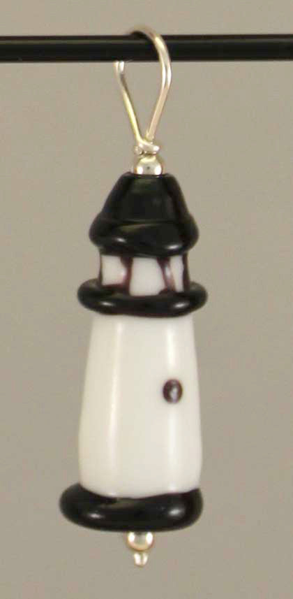 Rock Island Lighthouse Bead Pendant