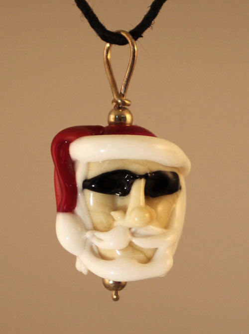 Cool Dude Santa Bead