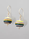 Striped Glass Bead Earrings