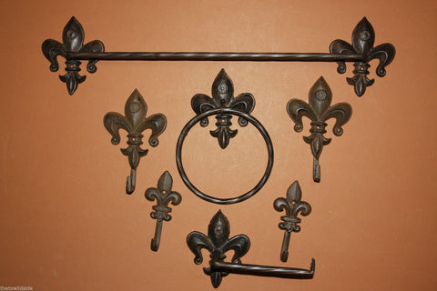 We Sell A Wide Variety Of Fleur De Lis Cast Iron Decor Items. Wall Hooks