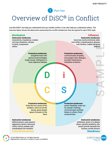 Everything DiSC Productive Conflict PROFILE