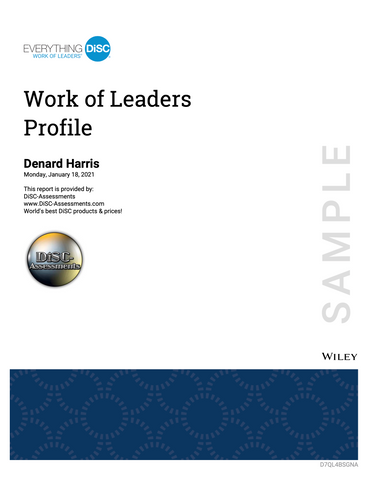 Everything DiSC Work Of Leaders PROFILE