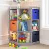 RiverRidge Home Kids Gray toy storage corner cabinet with cubbies