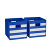 Two-Piece Folding Storage Bins with Stripes
