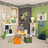 Book Nook Kids Wall Shelf with Cubbies and Bookrack