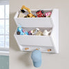 Kids Catch-All Wall Shelf with Hooks