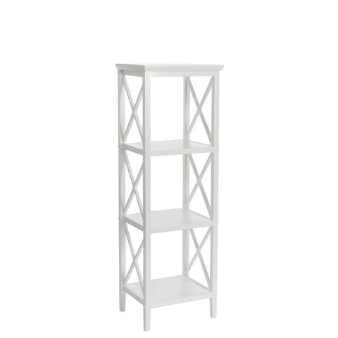 4-Shelf Etagere Open Bookcase