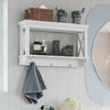 X-Frame-Wall Shelf with Hooks