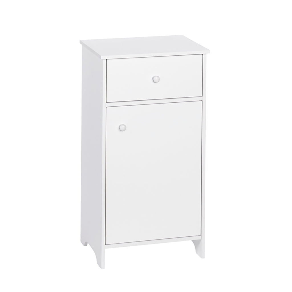 white floor cabinet with drawer