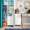 Medford Tall Floor Cabinet with Open Shelves
