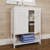 Ellsworth Two-Door Floor Cabinet with Open Shelf
