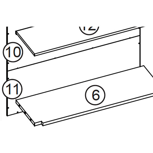 Somerset Two-Door Wall Cabinet - Part 11 - Lower Back Board