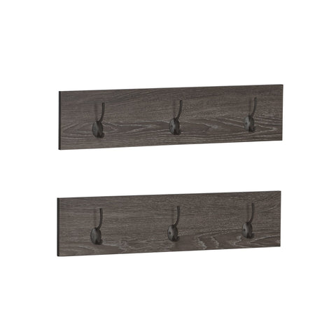 Afton 3-Hook Coat Rack - 2 Pack