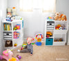 Kids Corner Storage Cabinet with Cubbies & Shelves