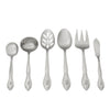 46-Piece Personalized Flatware - Rose Pattern