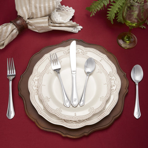 46-Piece Personalized Flatware - Royalty Pattern