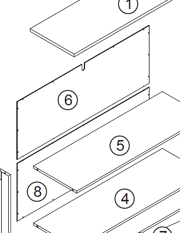 Kids Horizontal Bookcase - Part 08 - Lower Back Panel