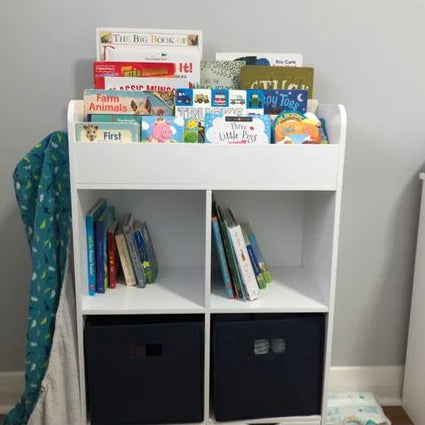Woodbury entryway wall shelf with cubbies and hooks
