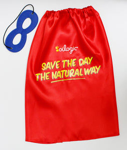 "FREE ""Save The Day The Natural Way"" Superhero Cape"